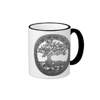Silver Tree of Life Coffee Mug