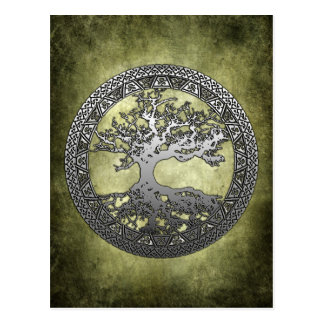 Silver Tree of Life Postcards