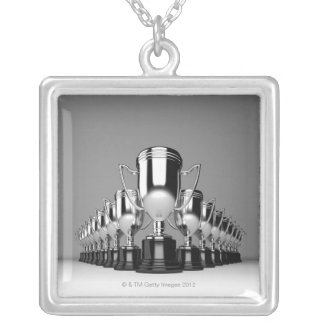 Silver Trophys 2 Silver Plated Necklace