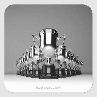 Silver Trophys 2 Square Sticker