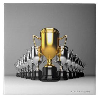 Silver Trophys 3 Tile