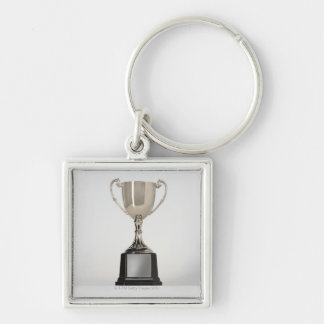 Silver Trophys Silver-Colored Square Key Ring