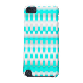 silver & turquoise light zigzag pattern iPod touch (5th generation) cover