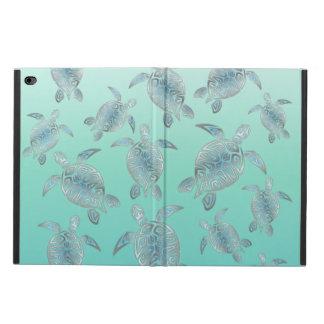 Silver Turquoise Sea Turtles Pattern Powis iPad Air 2 Case