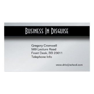 Silver Two Sided Business Card