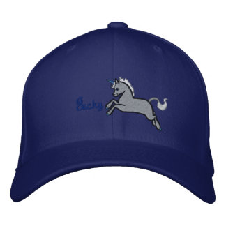 Silver Uni Hat Embroidered Hat