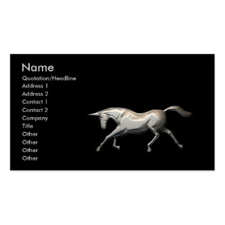 Silver Unicorn - Business Pack Of Standard Business Cards