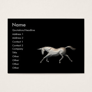 Silver Unicorn - Chubby Business Card