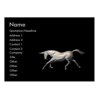 Silver Unicorn - Chubby Business Card Template