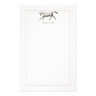 Silver Unicorn Personalised Stationery