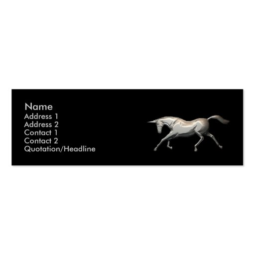 Silver Unicorn - Skinny Business Cards