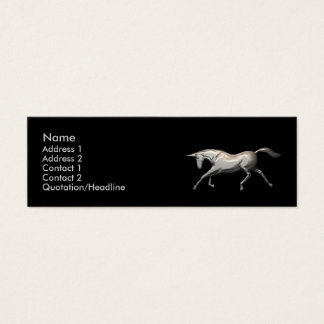 Silver Unicorn - Skinny Mini Business Card