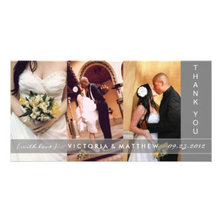 SILVER UNION | WEDDING THANK YOU CARD CUSTOMISED PHOTO CARD