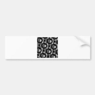 silver valentine hearts and circles bumper sticker