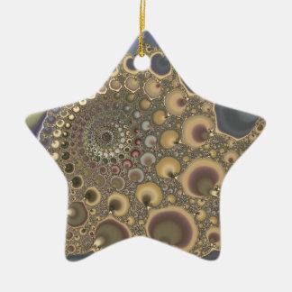 Silver Vein! Fractal Art Christmas Ornament