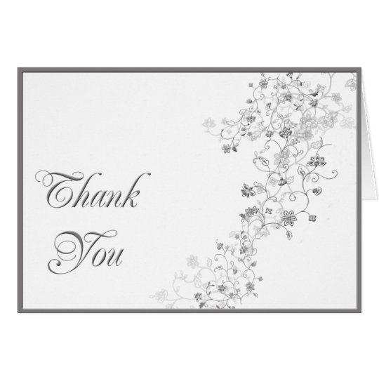 Silver Vines Thank You card