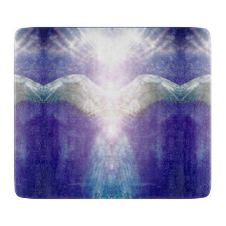 Silver violet angel cutting board