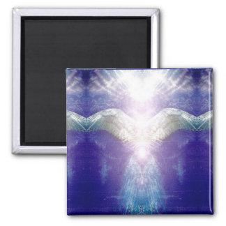 Silver violet angel magnet