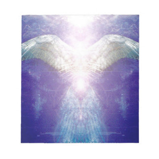 Silver violet angel notepad