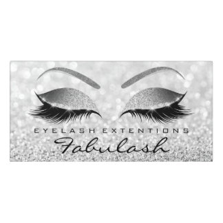 Silver VIP Glitter Gray Beauty Salon Lashes Makeup Door Sign