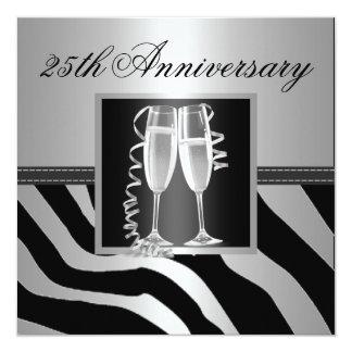 Silver Wedding Anniversary 13 Cm X 13 Cm Square Invitation Card