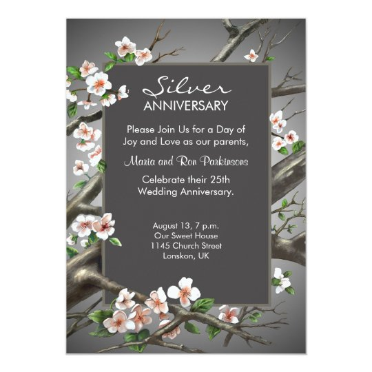 Silver Wedding Anniversary - 25th years Card