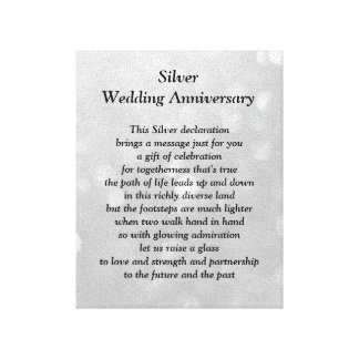 Silver Wedding Anniversary Canvas