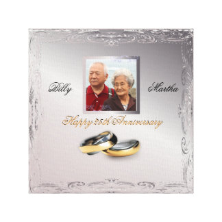 Silver Wedding Anniversary Gallery Wrap Canvas