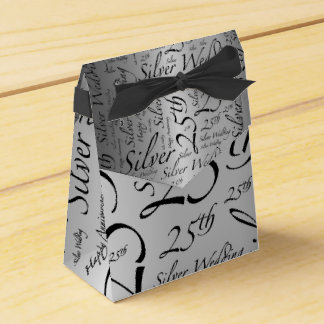 Silver Wedding Anniversary Favour Box