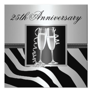 Silver Wedding Anniversary Personalized Announcement