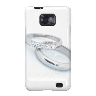 Silver Wedding Bands Save the Date Samsung Galaxy SII Cases