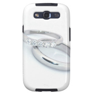 Silver Wedding Bands Save the Date Samsung Galaxy SIII Case