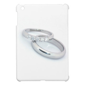 Silver Wedding Bands Save the Date iPad Mini Cases