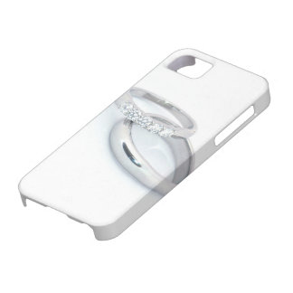 Silver Wedding Bands Save the Date iPhone 5 Cover