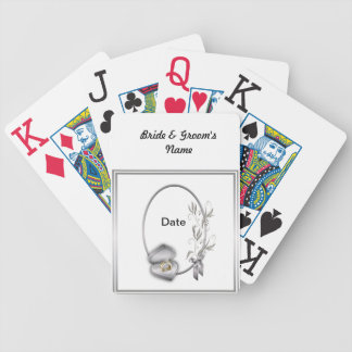 Silver Wedding deck of Playing Cards Favors