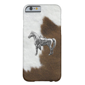 SILVER WESTERN HORSE Cow Hide Print Barely There iPhone 6 Case