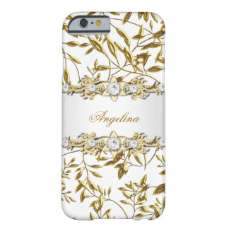 Silver White Gold Diamond Jewel Barely There iPhone 6 Case