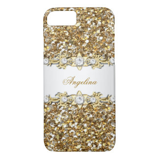 Silver White Gold Diamond Jewel Glitter iPhone 8/7 Case