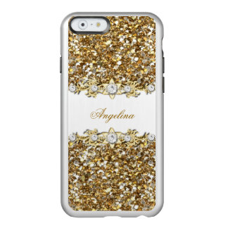 Silver White Gold Faux Diamond Jewel Glitter Incipio Feather® Shine iPhone 6 Case