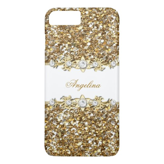 Silver White Gold Faux Diamond Jewel Glitter iPhone