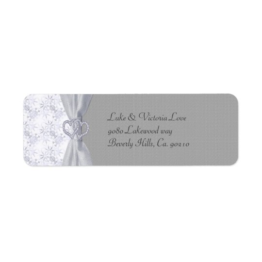 Silver, White Stars & Snowflakes Wedding