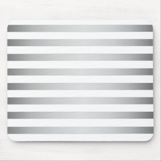 Silver White Stripes Mouse Mat