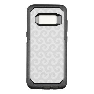 Silver & White Waves - Stylish & Fun Pattern OtterBox Commuter Samsung Galaxy S8 Case