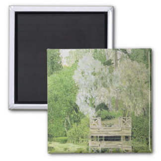 Silver White Willow, 1904 Square Magnet