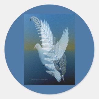 Silver Wing Round Sticker