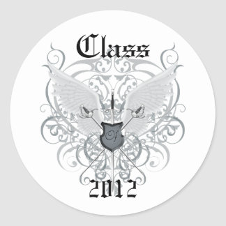 Silver Winged Swords Class of Graduation Sticker