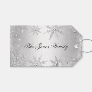 Silver Winter Wonderland Christmas Gift Tags