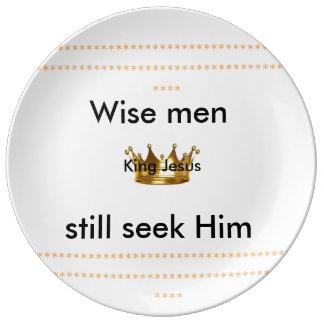 Silver Wise men still seek Him decorative plate Porcelain Plates