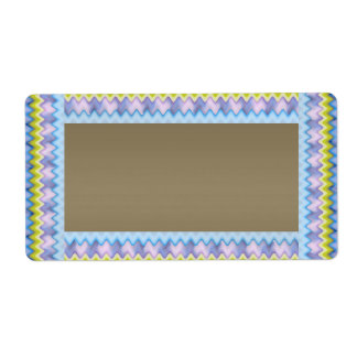 Silver with Blue Sparkle Border  Template Shipping Label