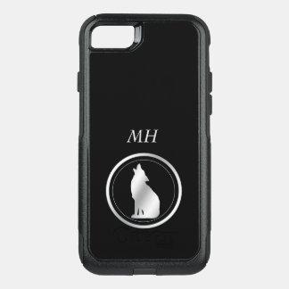 Silver Wolf Monogram OtterBox Commuter iPhone 8/7 Case